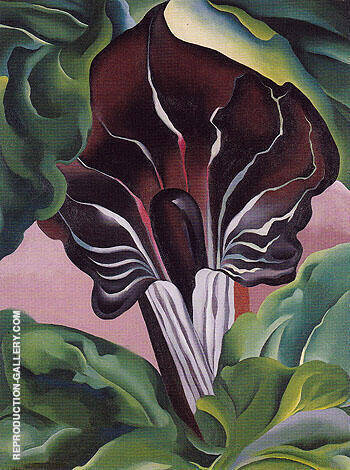 Reproduction of Jack In Pulpit 1930 No 2 by Georgia O'Keeffe | Oil Painting Replica On CanvasReproduction Gallery