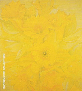 Jonquils 1936 No IV By Georgia O'Keeffe Replica Paintings on Canvas - Reproduction Gallery