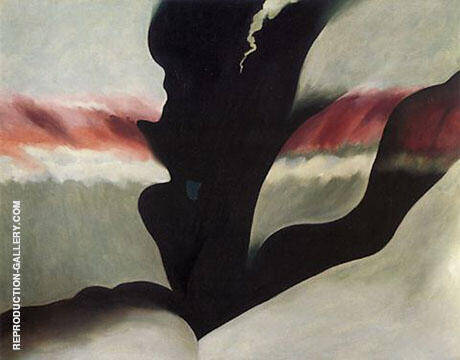 Reproduction of Black Place Green 1949 by Georgia O'Keeffe | Oil Painting Replica On CanvasReproduction Gallery