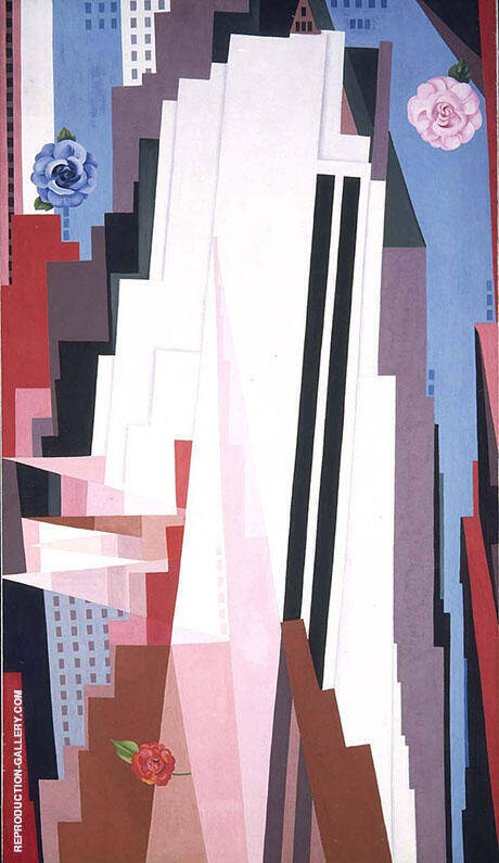 Manhattan 1952 By Georgia O'Keeffe - Oil Paintings & Art Reproductions - Reproduction Gallery