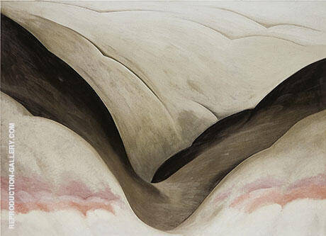Reproduction of Black Place Grey And Pink 1949 by Georgia O'Keeffe | Oil Painting Replica On CanvasReproduction Gallery
