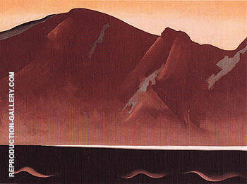 Mountain At Bear Lake Taos 1930 By Georgia O'Keeffe - Oil Paintings & Art Reproductions - Reproduction Gallery