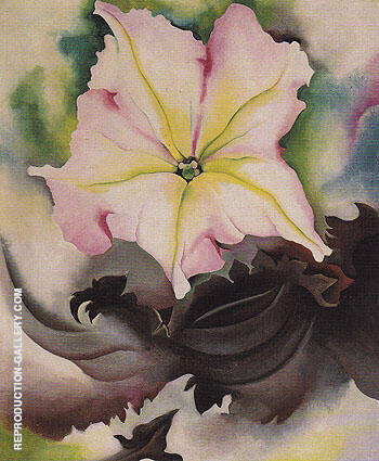 Petunia And Coleus 1924 Painting By Georgia O'Keeffe
