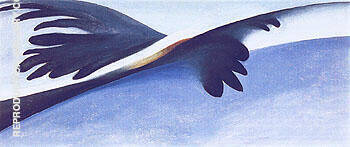 Blue And White Abstraction 1958 By Georgia O'Keeffe