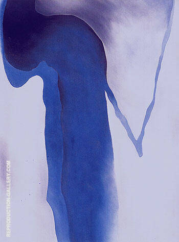 Blue Black and Grey 1960 By Georgia O'Keeffe - Oil Paintings & Art Reproductions - Reproduction Gallery