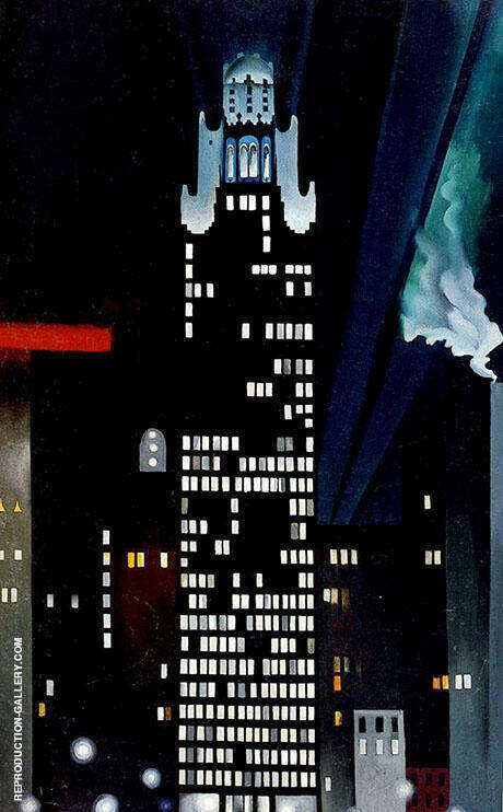 Radiator Building Night New York 1927 Painting By Georgia O'Keeffe