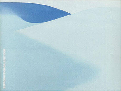 Blue Sand 1957 By Georgia O'Keeffe - Oil Paintings & Art Reproductions - Reproduction Gallery