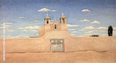 Ranchos Church Front 1930 By Georgia O'Keeffe Replica Paintings on Canvas - Reproduction Gallery