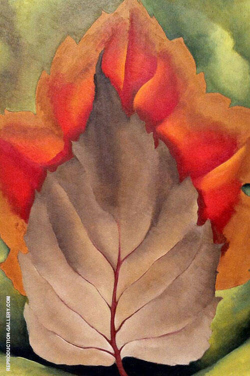 Red And Brown Leaves Autumn Leaves 1925 By Georgia O'Keeffe