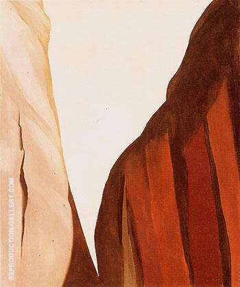 Canyon Country White and Brown Cliffs 1965 By Georgia O'Keeffe