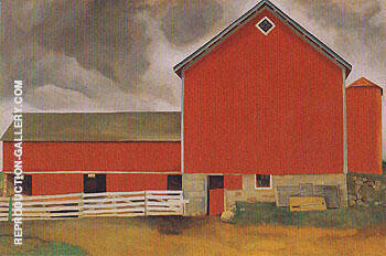 Red Barn 1928 By Georgia O'Keeffe - Oil Paintings & Art Reproductions - Reproduction Gallery