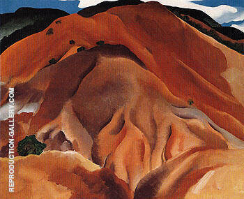 Red Hills Beyond Abiquiu 1930 By Georgia O'Keeffe - Oil Paintings & Art Reproductions - Reproduction Gallery
