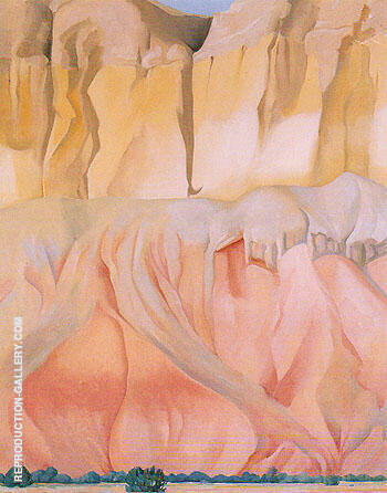 Cliffs Beyond Abiquiu 1943 By Georgia O'Keeffe - Oil Paintings & Art Reproductions - Reproduction Gallery