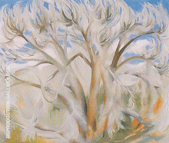 Cottonwood 1944 1 By Georgia O'Keeffe