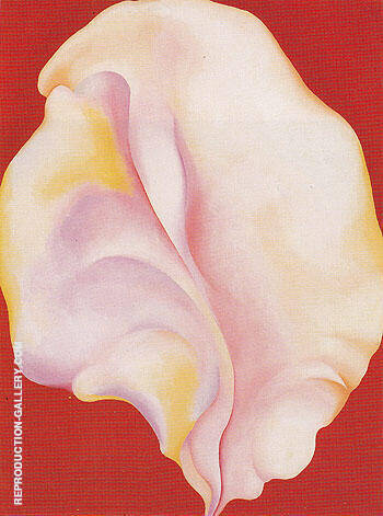 Reproduction of Shell on Red 1931 by Georgia O'Keeffe | Oil Painting Replica On CanvasReproduction Gallery