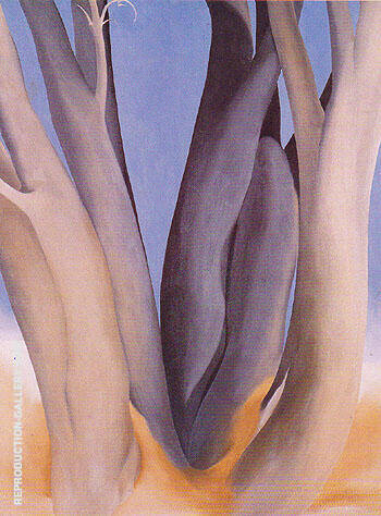 Dark Tree Trunks 1946 By Georgia O'Keeffe - Oil Paintings & Art Reproductions - Reproduction Gallery