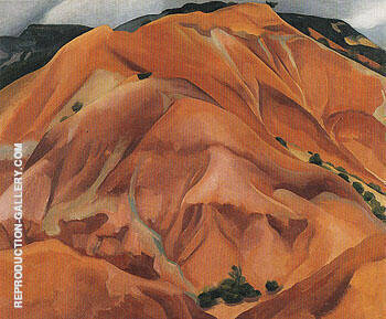 Reproduction of The Mountain New Mexico 1931 by Georgia O'Keeffe | Oil Painting Replica On CanvasReproduction Gallery