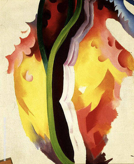 Untitled Abstraction c1923 By Georgia O'Keeffe - Oil Paintings & Art Reproductions - Reproduction Gallery