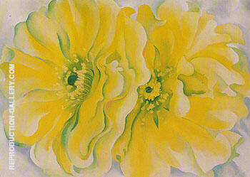 Yellow Cactus 1929 By Georgia O'Keeffe - Oil Paintings & Art Reproductions - Reproduction Gallery
