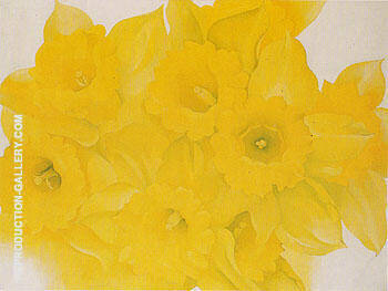 Yellow Jonquils 1936 No 2 By Georgia O'Keeffe Replica Paintings on Canvas - Reproduction Gallery