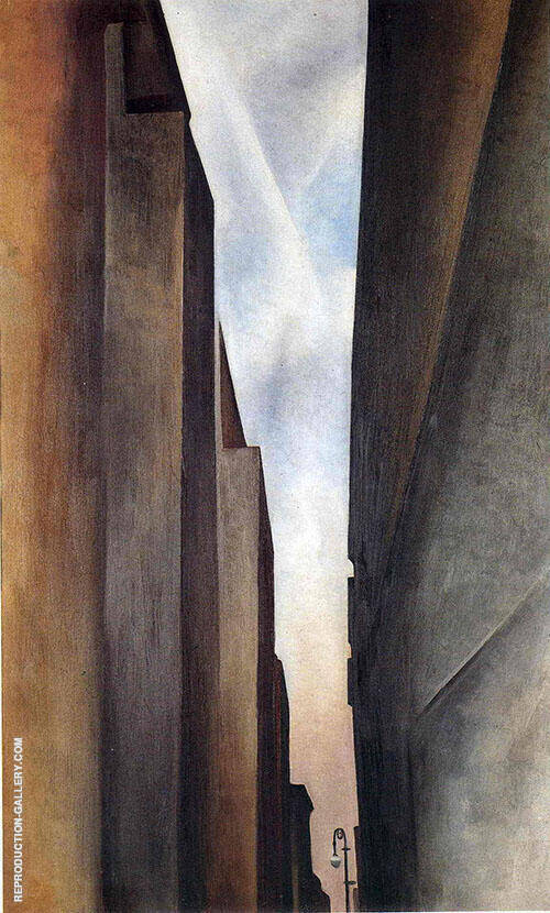 Reproduction of A Street New York 1926 No 1 by Georgia O'Keeffe | Oil Painting Replica On CanvasReproduction Gallery