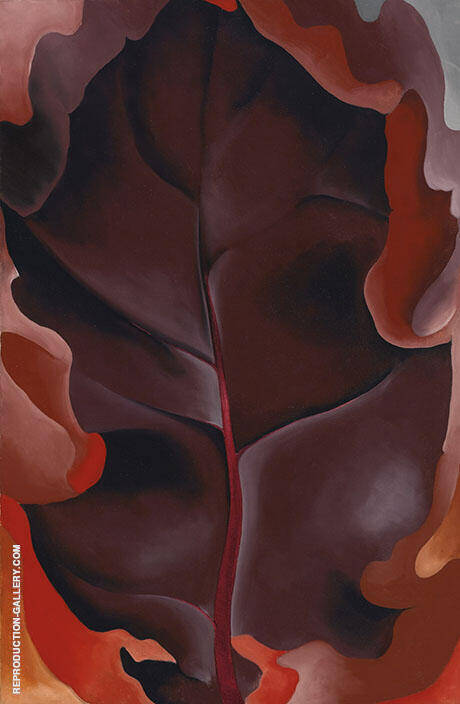 Autumn Leaf 1927 2 Painting By Georgia O'Keeffe - Reproduction Gallery