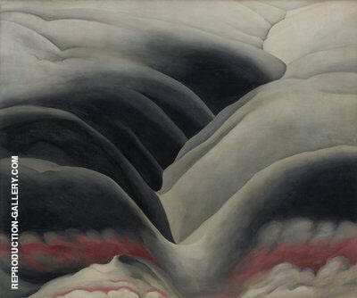 Reproduction of Black Place 1945  1 by Georgia O'Keeffe | Oil Painting Replica On CanvasReproduction Gallery