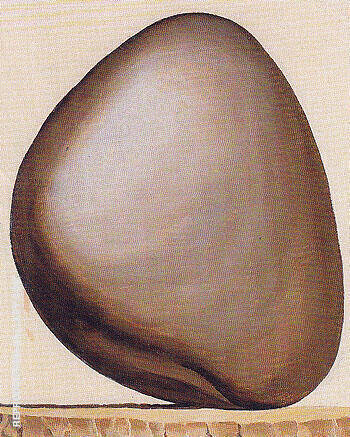 Black Rock With White Background c1963 Painting By Georgia O'Keeffe