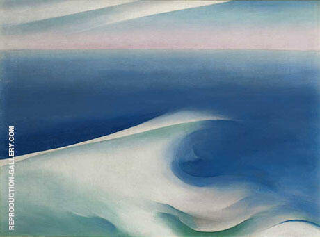 Blue Wave Maine Light Blue Sea 1926 By Georgia O'Keeffe - Oil Paintings & Art Reproductions - Reproduction Gallery
