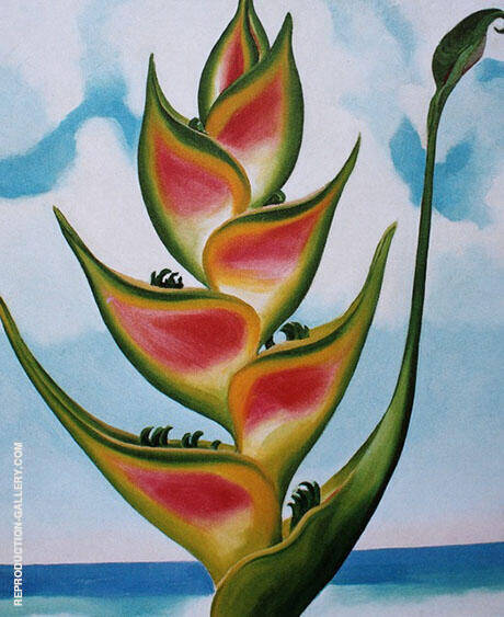 Heliconia 1939 Painting By Georgia O'Keeffe - Reproduction Gallery