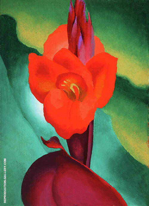 Reproduction of Cannas 1919 by Georgia O'Keeffe | Oil Painting Replica On CanvasReproduction Gallery