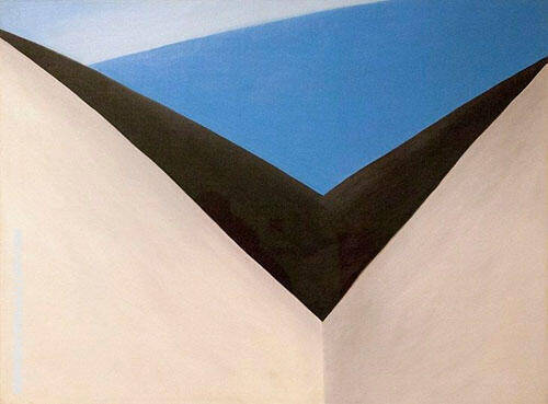 In The Patio 1948 IX By Georgia O'Keeffe
