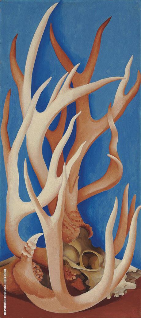 Deer Horns 1938 By Georgia O'Keeffe