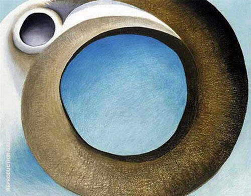 Goats Horns With Blue 1945 By Georgia O'Keeffe
