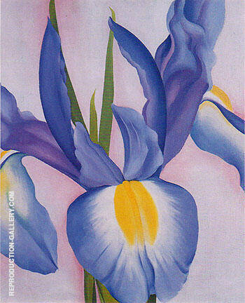 Lavender Iris 1951 By Georgia O'Keeffe - Oil Paintings & Art Reproductions - Reproduction Gallery