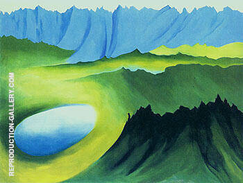 Mountain and Lake 1961 By Georgia O'Keeffe - Oil Paintings & Art Reproductions - Reproduction Gallery