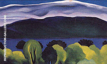 Reproduction of Lake George Blue 1926 by Georgia O'Keeffe | Oil Painting Replica On CanvasReproduction Gallery