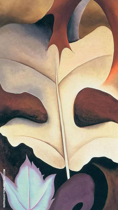 Leaf Motif 1924 No 1 By Georgia O'Keeffe Replica Paintings on Canvas - Reproduction Gallery