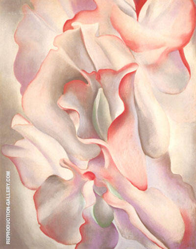 Pink Sweet Peas 1927 By Georgia O'Keeffe - Oil Paintings & Art Reproductions - Reproduction Gallery