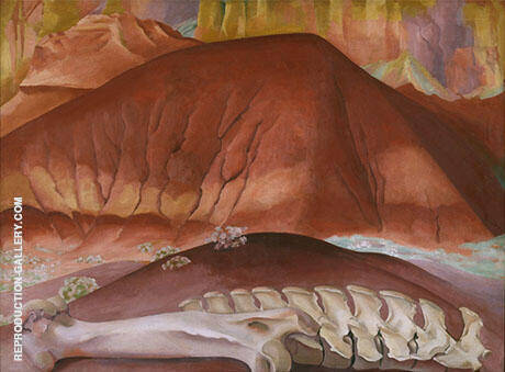 Red Hills and Bones 1941 By Georgia O'Keeffe