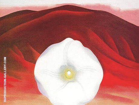 Red Hills and White Flower 1937 By Georgia O'Keeffe