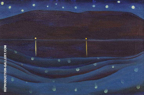 Starlight Night Lake George 1922 By Georgia O'Keeffe - Oil Paintings & Art Reproductions - Reproduction Gallery