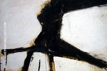 Untitled 1957 E By Franz Kline