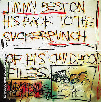 Jimmy Best 1981 By Jean-Michel-Basquiat Replica Paintings on Canvas - Reproduction Gallery