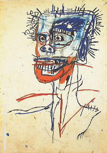 Untitled 1982 60 A By Jean-Michel-Basquiat Replica Paintings on Canvas - Reproduction Gallery