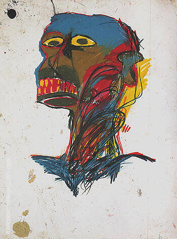 Reproduction of Untitled 1982 61 B by Jean-Michel-Basquiat | Oil Painting Replica On CanvasReproduction Gallery