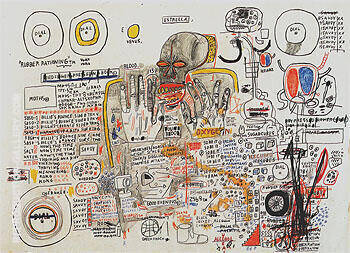 Reproduction of Untitled 1985 89 A by Jean-Michel-Basquiat | Oil Painting Replica On CanvasReproduction Gallery