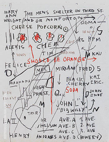 Untitled Cheese Popcorn 1982 Painting By Jean-Michel-Basquiat