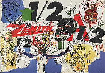 Untitled 1984 126 By Jean-Michel-Basquiat Replica Paintings on Canvas - Reproduction Gallery