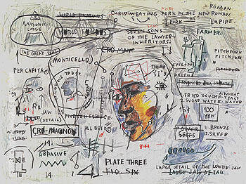 Monticello By Jean-Michel-Basquiat Replica Paintings on Canvas - Reproduction Gallery